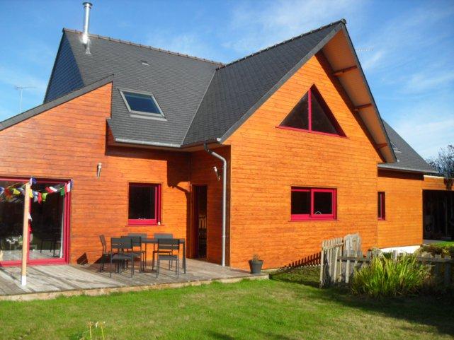 Vente a acheter superbe maison ossature bois plouha for Acheter maison ossature bois